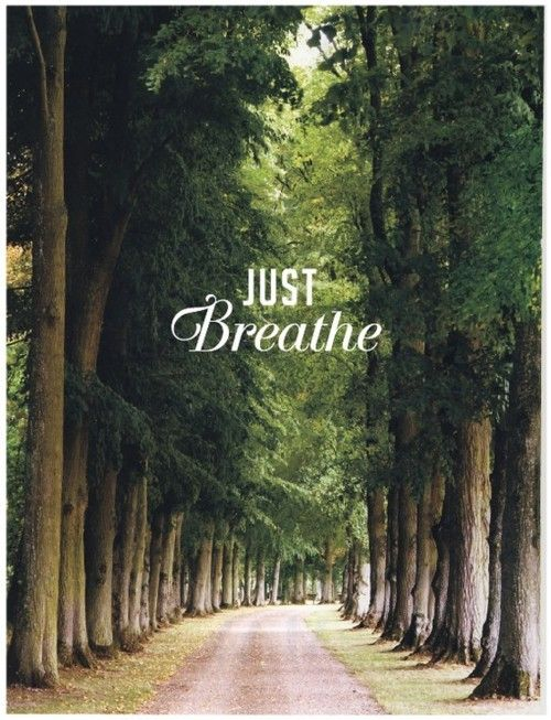 Just breathe.