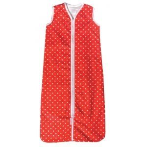 Sacco nanna #Cottonbaby con puntini rossi alla #cappuccetto rosso