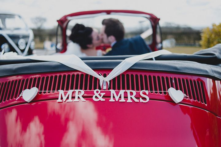 Katie and Christopher's DIY York Wedding with a Vintage Red Beetle. By Toast of Leeds