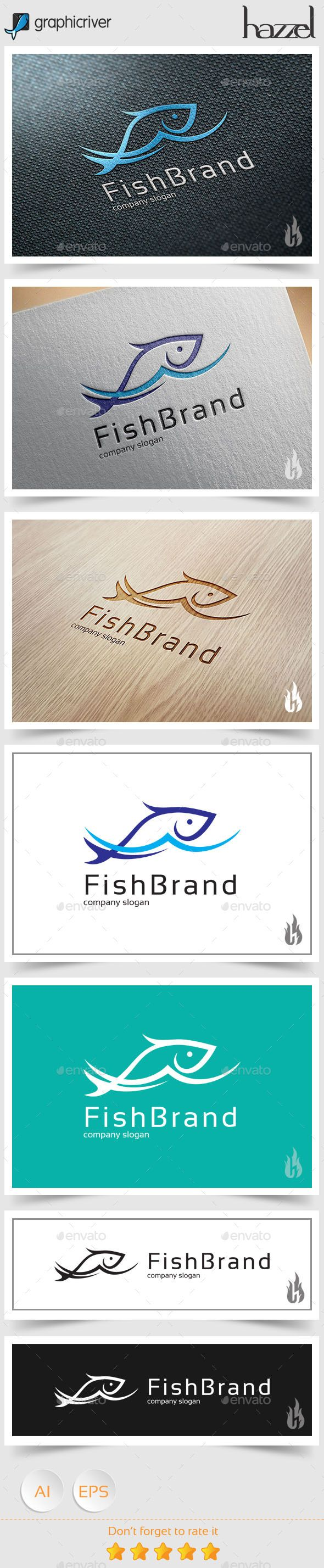 Great Fish Brand Logo EPS Template • Only available here ➝ http://graphicriver.net/item/fish-brand-logo/8977875?ref=pxcr