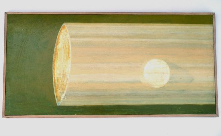Superb original 1970s abstract oil painting 80 × 39.5cm, signed