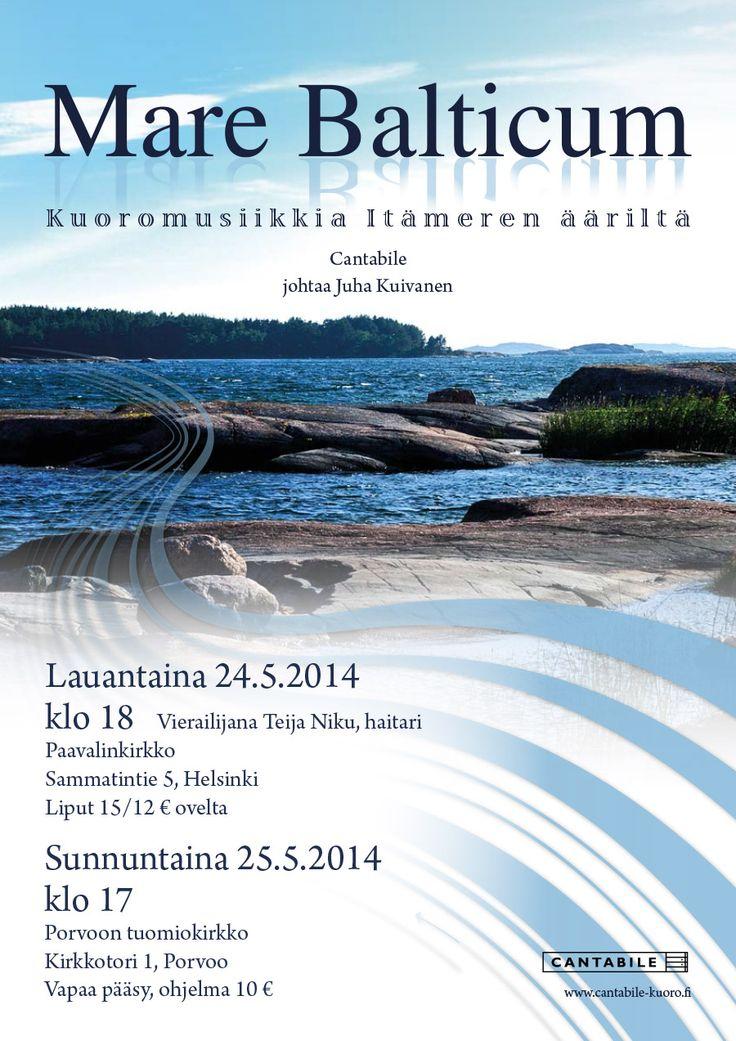 Concert poster for Cantabile choir, spring 2014. Photographer: Perttu Raivio.