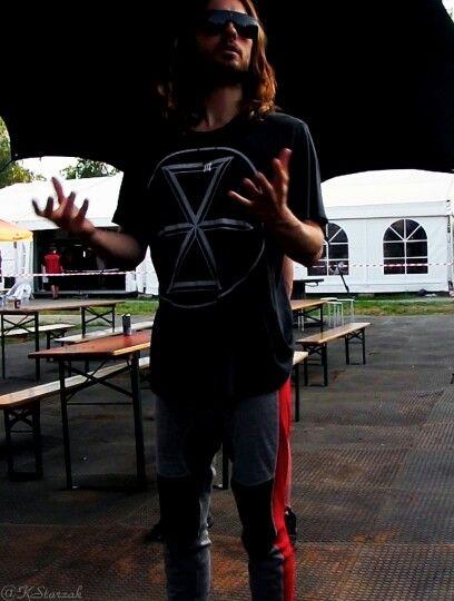 Jared Leto on backstage in Hradec Karlove, Czech Republic  July 2nd 2013