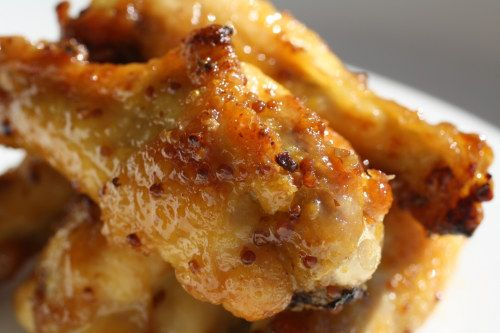 Honey Dijon Chicken Drummettes - I added soy sauce and worcestershire sauce to recipe and only used 1 mustard (Dijon)...yum