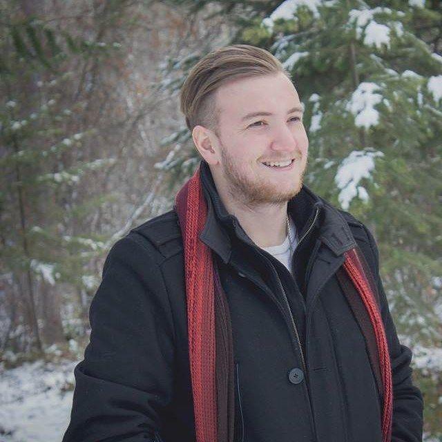 Just one of our handsome men #Kelowna #kelownanow #crimson #menscut #undercut #winter #bundleup #snow #handsome #men #greatsmile #doubletake #2016  Hair by Vanessa Photography @tikamichelle