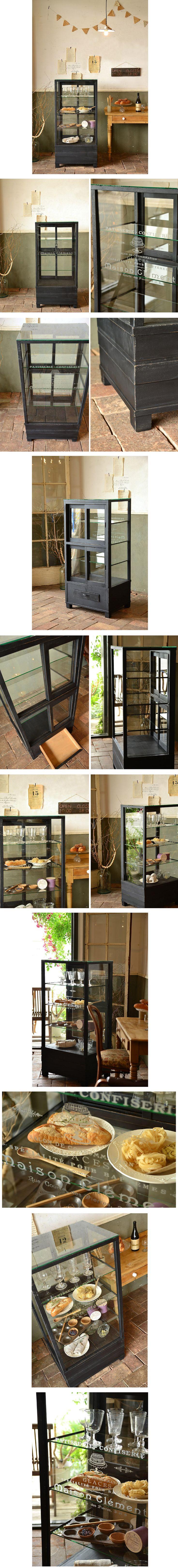○。アンティーク古い黒色ガラスショーケース/文字入収納飾り棚 - Yahoo!オークション - ヤフオク!