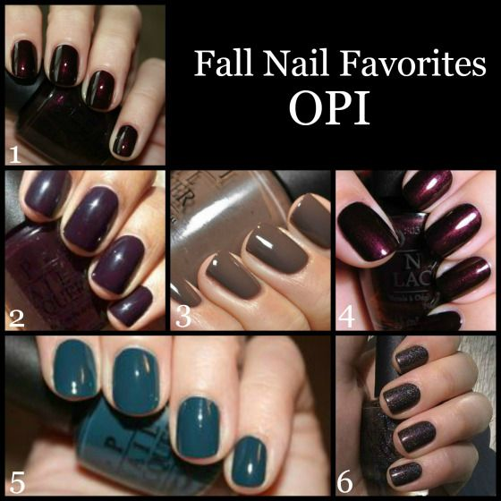 OPI | 1. Black Cherry Chutney 2. Lincoln Park After Dark 3. You Don't Know Jacques 4. Every Month is Oktoberfest 5. Ski Teal We Drop 6. My Private Jet