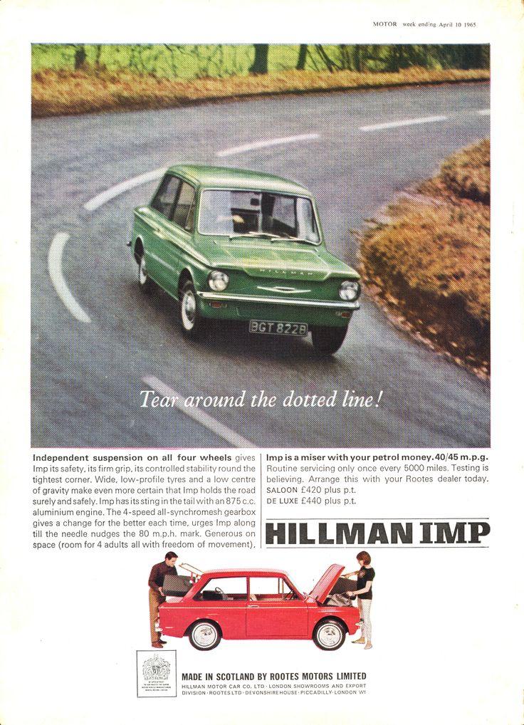 Hillman Autocar Motor Car Advert 1965 - Hillman Imp