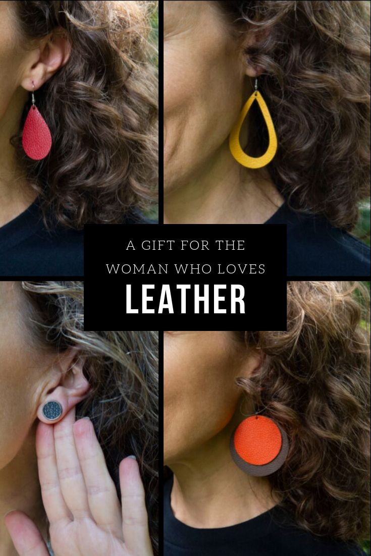 Find the perfect leather earrings for the woman who loves sports, and give her the gift of team spirit this holiday season. #sportsfan #teamspirit