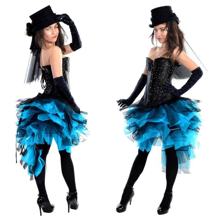 black blue burlesque mardi gras skirt tutu 6 8 10 12 14 16. Black Bedroom Furniture Sets. Home Design Ideas