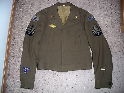 Up on ETSY for buy it now is a good condition, #Etsyworkwearteam Vintage World War 2 WWII Jacket, Field, Wool US Uniform Jacket with 15th Air Force patch and