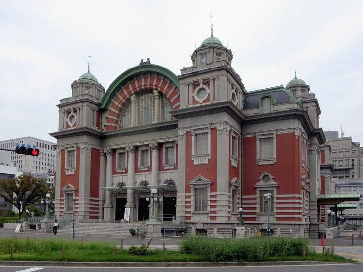 Osaka Central Public Hall (1918) sits on Nakanoshima Island in downtown Osaka, Japan.