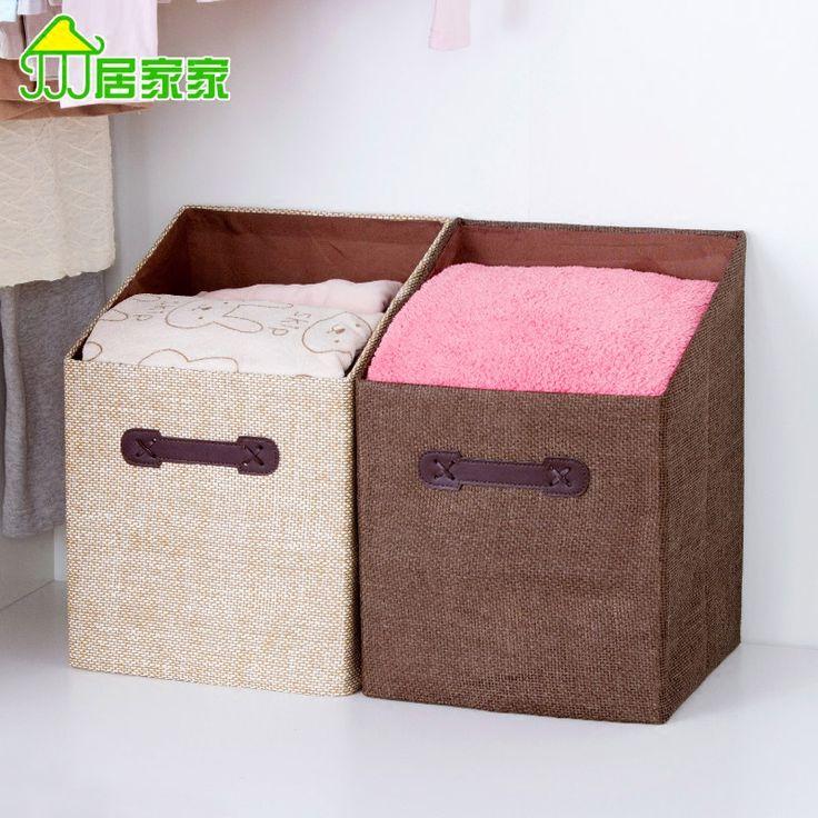 Бытовая ткань складной одежды сортировки коробки ящик для хранения одежды игрушка коробка для хранения гардероб купить на AliExpress