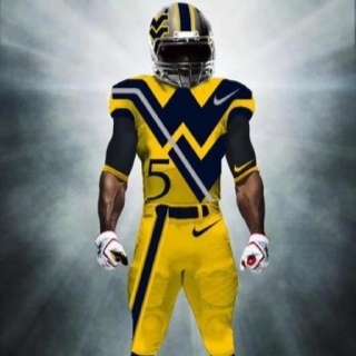 WVU Football Let's get it started!! Love this uniform! Wishes they would actually do this one.