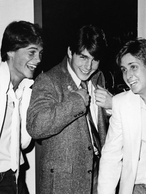 Oh my gosh- Rob Lowe, Tom Cruise and Emilio Estevez, 1982