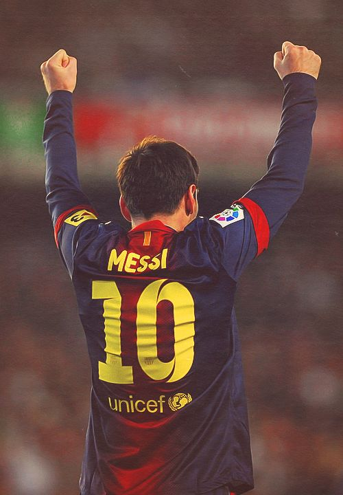 Lionel Messi, FC Barcelona. He will one day finish the debate between Pele & Maradona.
