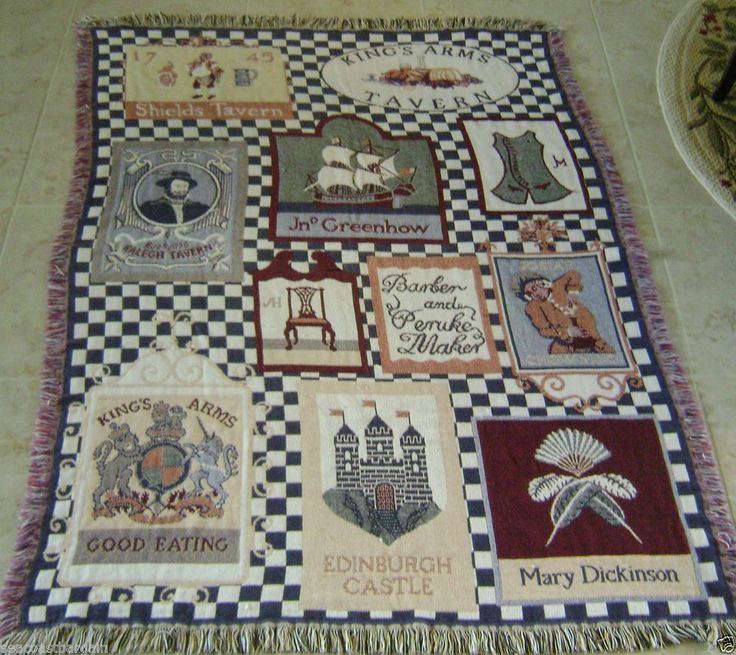 Williamsburg Virginia Throw Blanket Landmarks Colonial