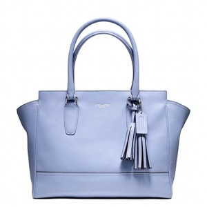 Coach legacy leather medium candace carryall in silver/chambray