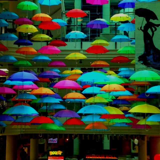 Umbrellas in melbourne at Australia on Collins <3