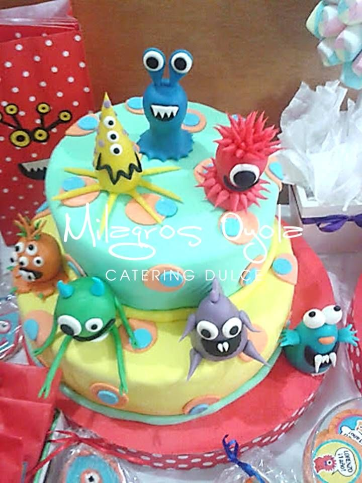 mini monster cake