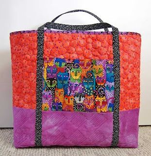 Orange an purpleFree pattern day: Tote bags !