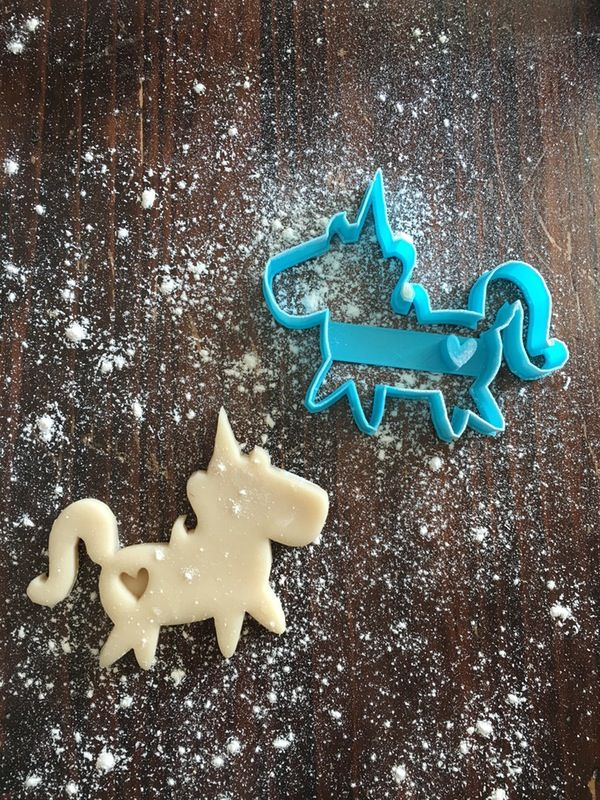 Image of Unicorn w/ Heart Stamp Cookie Cutter                                                                                                                                                                                 More