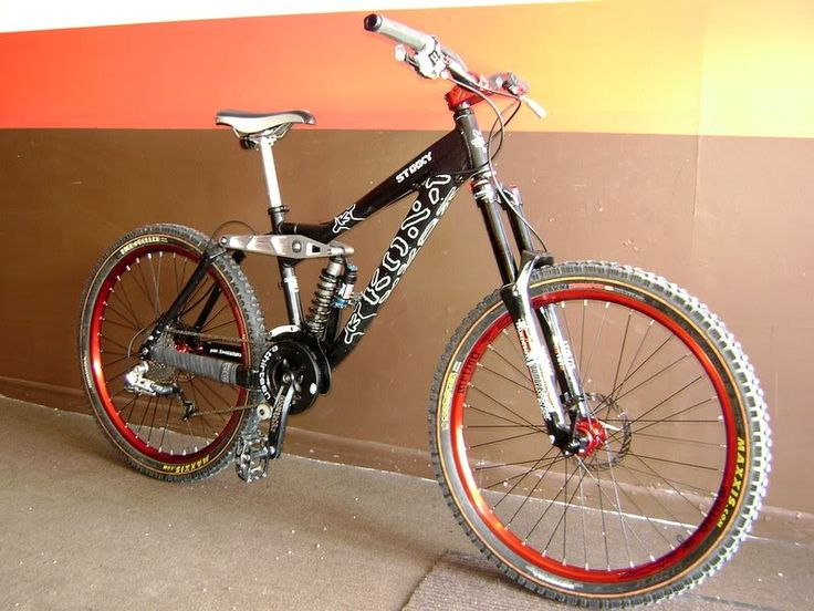 My next mountain bike is going to be a down hill rig like this Kona Stinky.