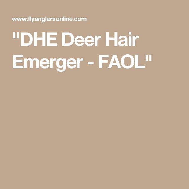 """DHE Deer Hair Emerger - FAOL"""