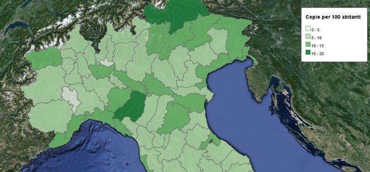 La Diffusione dei Quotidiani: Mappa Interattiva #giornalismo