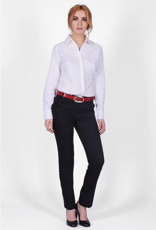Pantaloni office cu insertie brodata Nadya