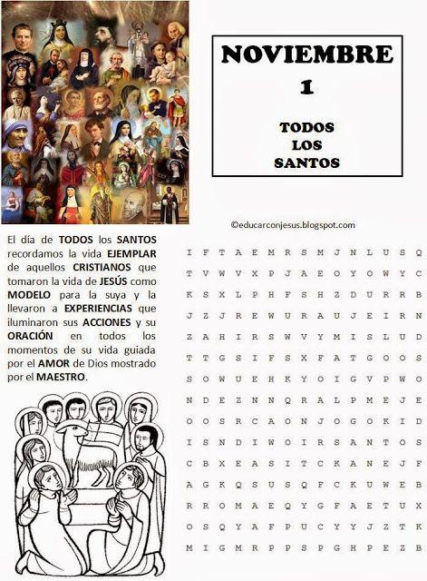 Educar con Jesús: Todos los Santos y Los fieles difuntos (1 y 2 de noviembre)
