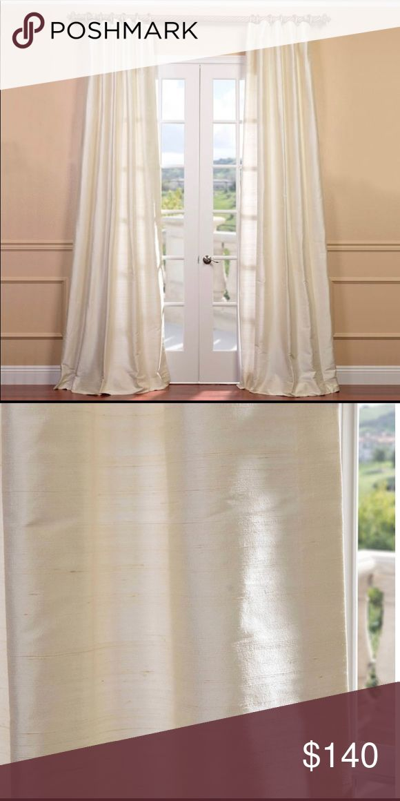 Pearl Dupioni Silk drapes 50 x 120 beautiful pearl…
