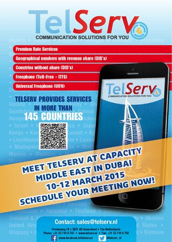 Make your appointment with TelServ for Capacity Middle East now!