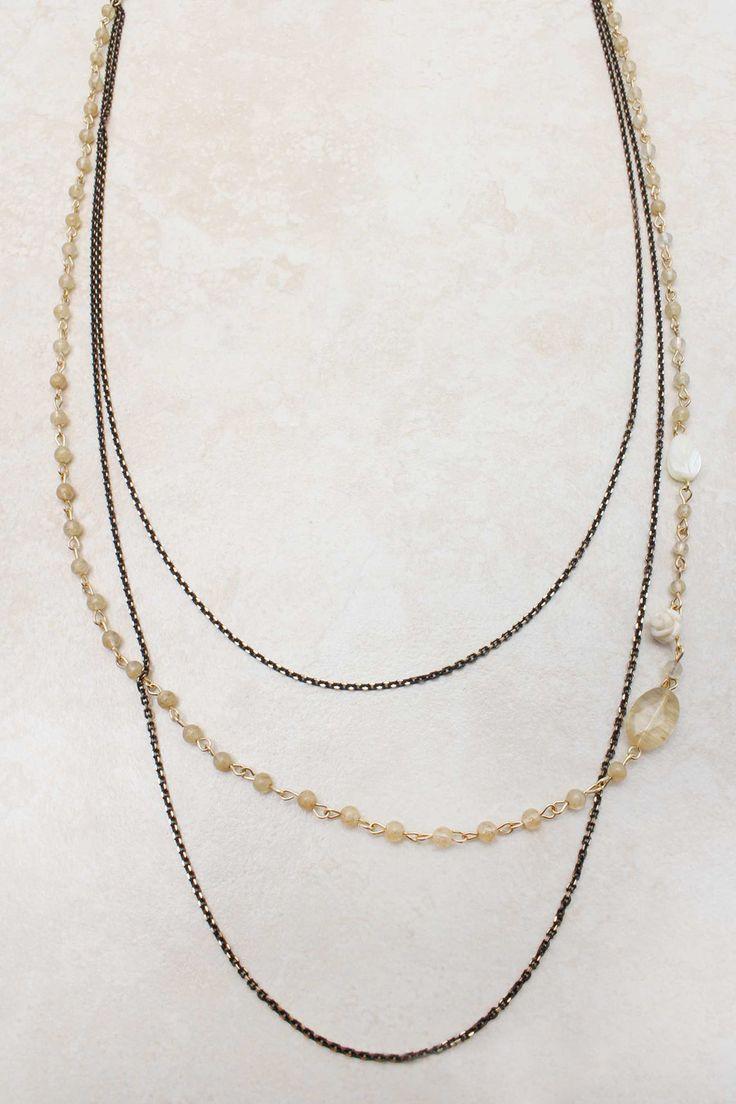 layered brass + gold necklace: Jewelry Bracelets, Jewelry Accessories, Bejeweled Dreams, Emma Stine Jewelry, Pretty Jewelry