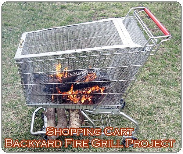 Shopping Cart Backyard Fire Grill Project - Homesteading  - The Homestead Survival .Com