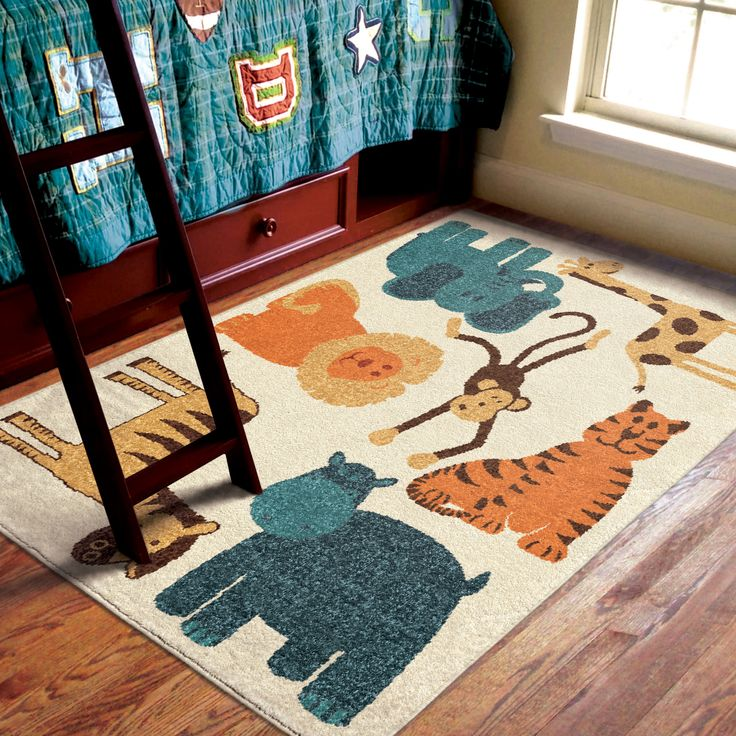 Your Kid Will Have Fun Monkeying Around With This Fun Animal Kidu0027s Rug!  Itu0027s Go