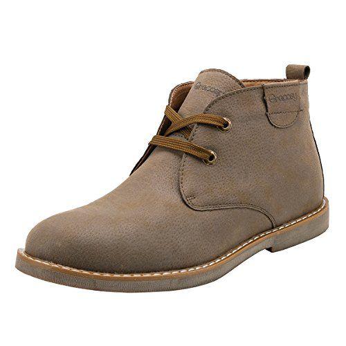 2a24be96 Botas para Hombre Botines Desert Boot, Gracosy Hombre Tobillo Cómodo Cuero  Combate Botas Pelaje Forrado Botines casuales de ante de invierno Zapatos  ...
