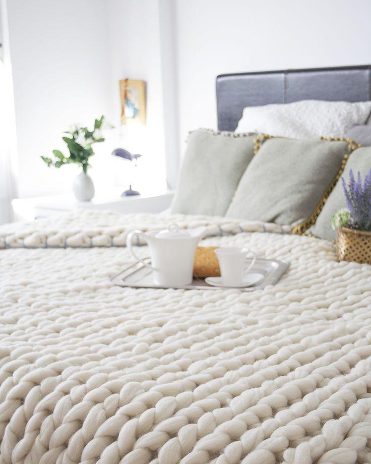 Knitting Noodles, mantas de lana Merino | tránsito inicial