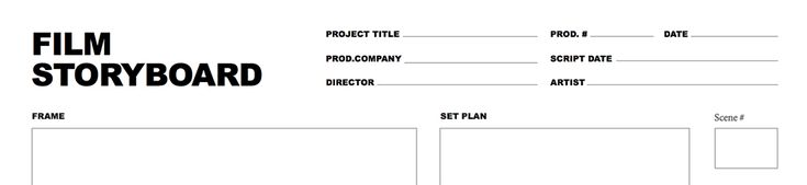 the 8 best storyboard template images on pinterest