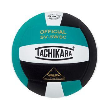Teal/White/Black Tachikara Sensi-Tec Volleyball love the colors #Volleyball