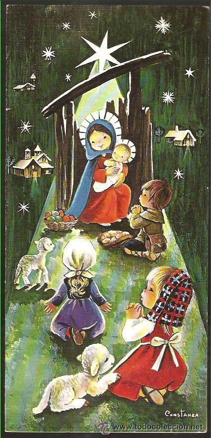 FELICITACION NAVIDAD CONSTANZA * AÑO 1970 (Postales - Navidad)