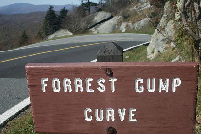 Scene from Forrest Gump filmed here, Grandfather Mtn., NC