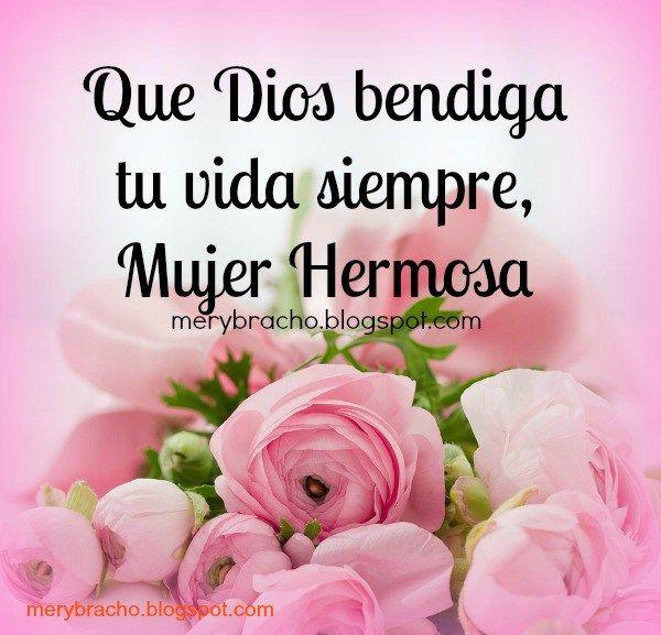 Frases En Imagenes De Rosas Rosadas Feliz Dia Mujer Feliz