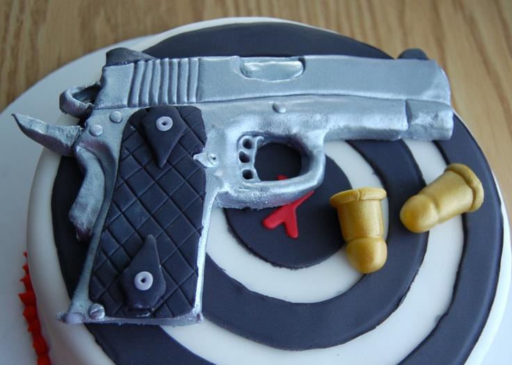 Edible Fondant Gun Cake Topper. USD34.00, via Etsy. For ...
