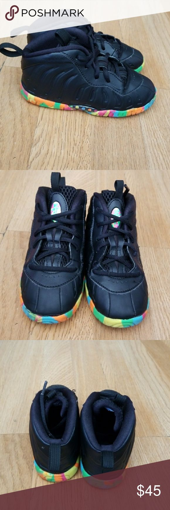 Foamposite fruity pebbles size 9c Nice in good condition Nike Shoes