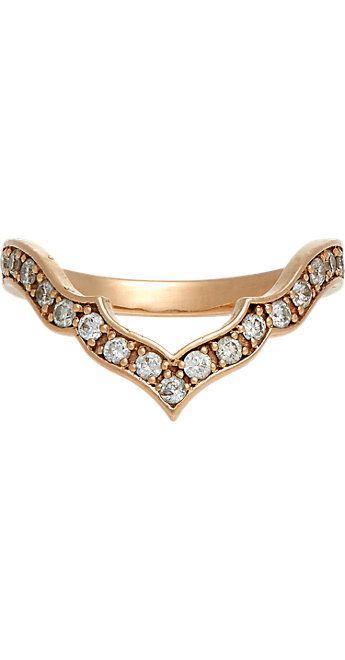 Sara Weinstock Diamond & Rose Gold Taj Midi Ring -  - Barneys.com