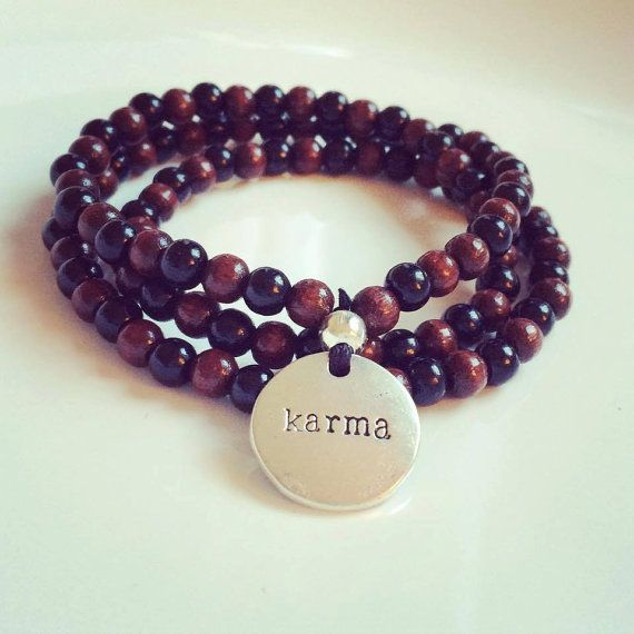 Yoga  108 pearls  Karma  Mala  Mantra  Bead  Wood  by misssfaith