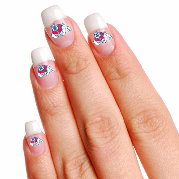 Fresno State Bulldogs WinCraft 4-Pack Temporary Nail Tattoos - $2.99