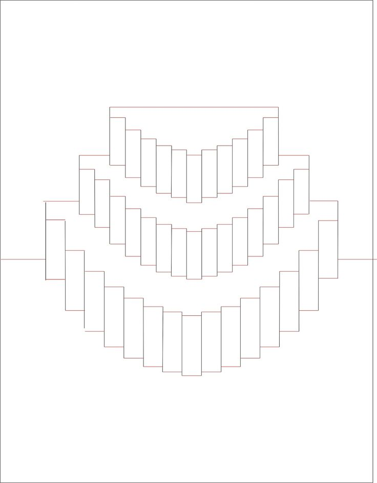 объемная открытка киригами торт схема помогут