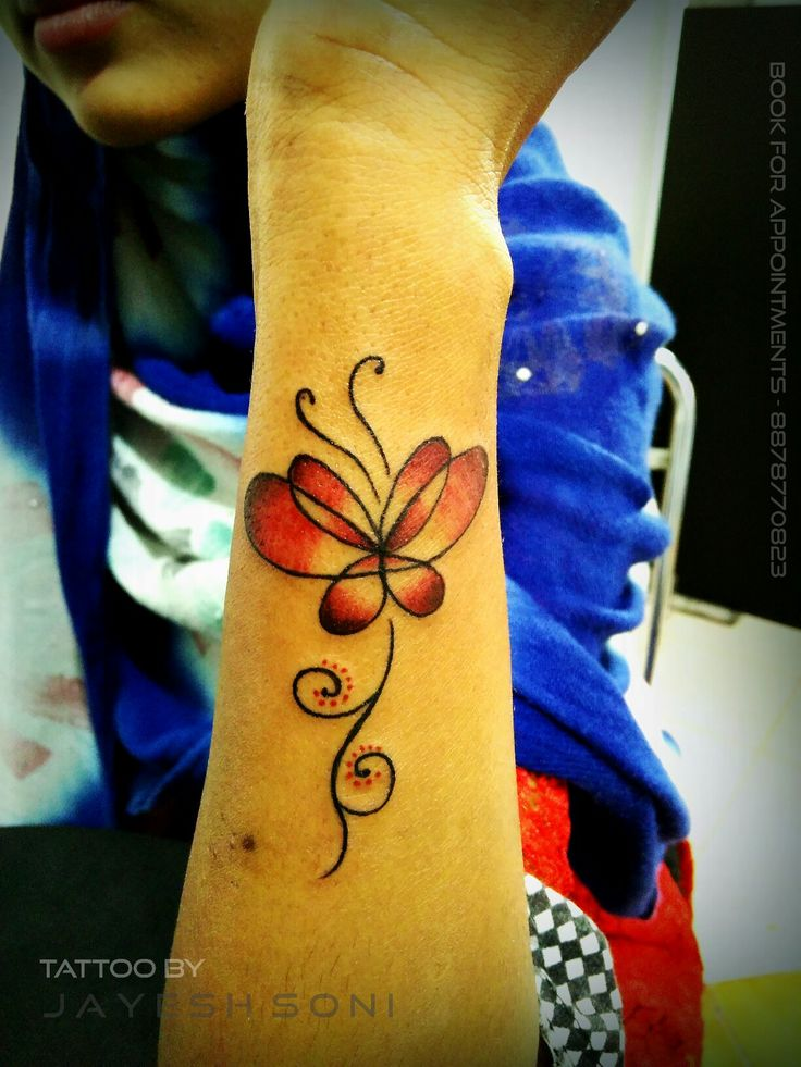 Beautiful Butterfly with flowers . Tattoo by - JAYESH SONI  @a_for_artist_29 Hope you all like it. #tattooideas #butterfly #butterflytattoo #flowertattoo #flowers #tattoo #smalltattoo #artists #art #tattooart #tattooartist #artby #jayeshsonitattoo #bhopal #madhyapradesh #india